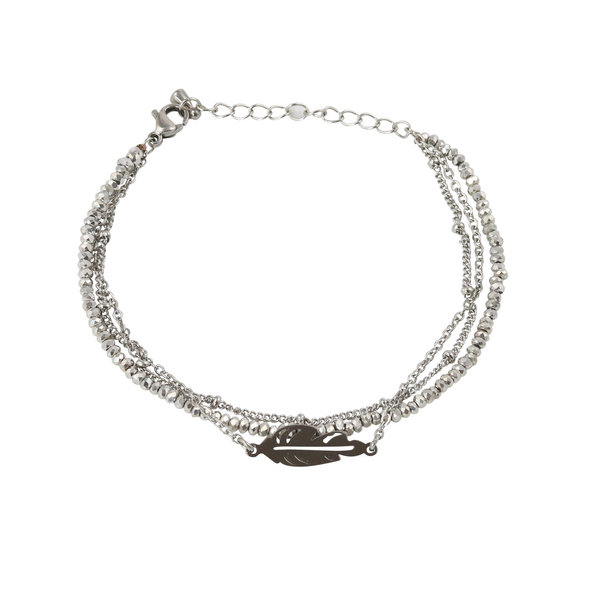 Sparkling Feather Bracelet